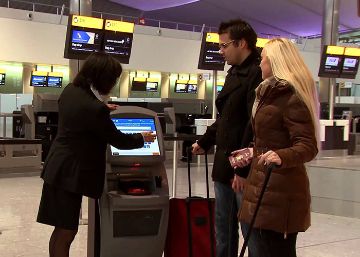 Check-in facility by Airlines